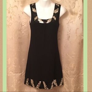 Express Black Dress With Sequin